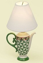 Jim Shore Teapot Lamp Green