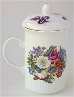 Mixed Flowers Teapot and Mug set